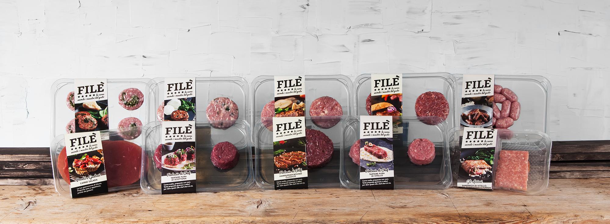 Esempio di packaging per prodotti alimentari a base di carne