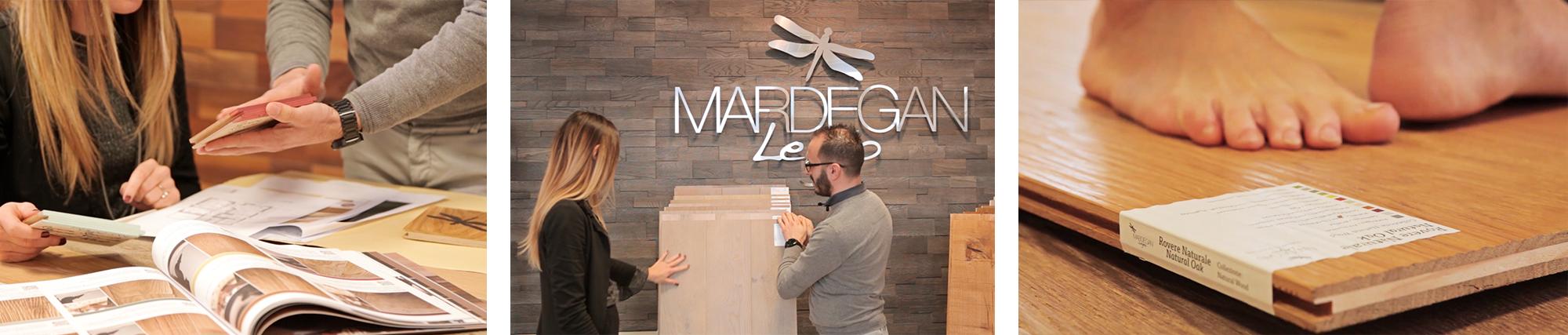 Progettazione degli strumenti per la vendita dei prodotti nello showroom monomarca Mardegan Legno