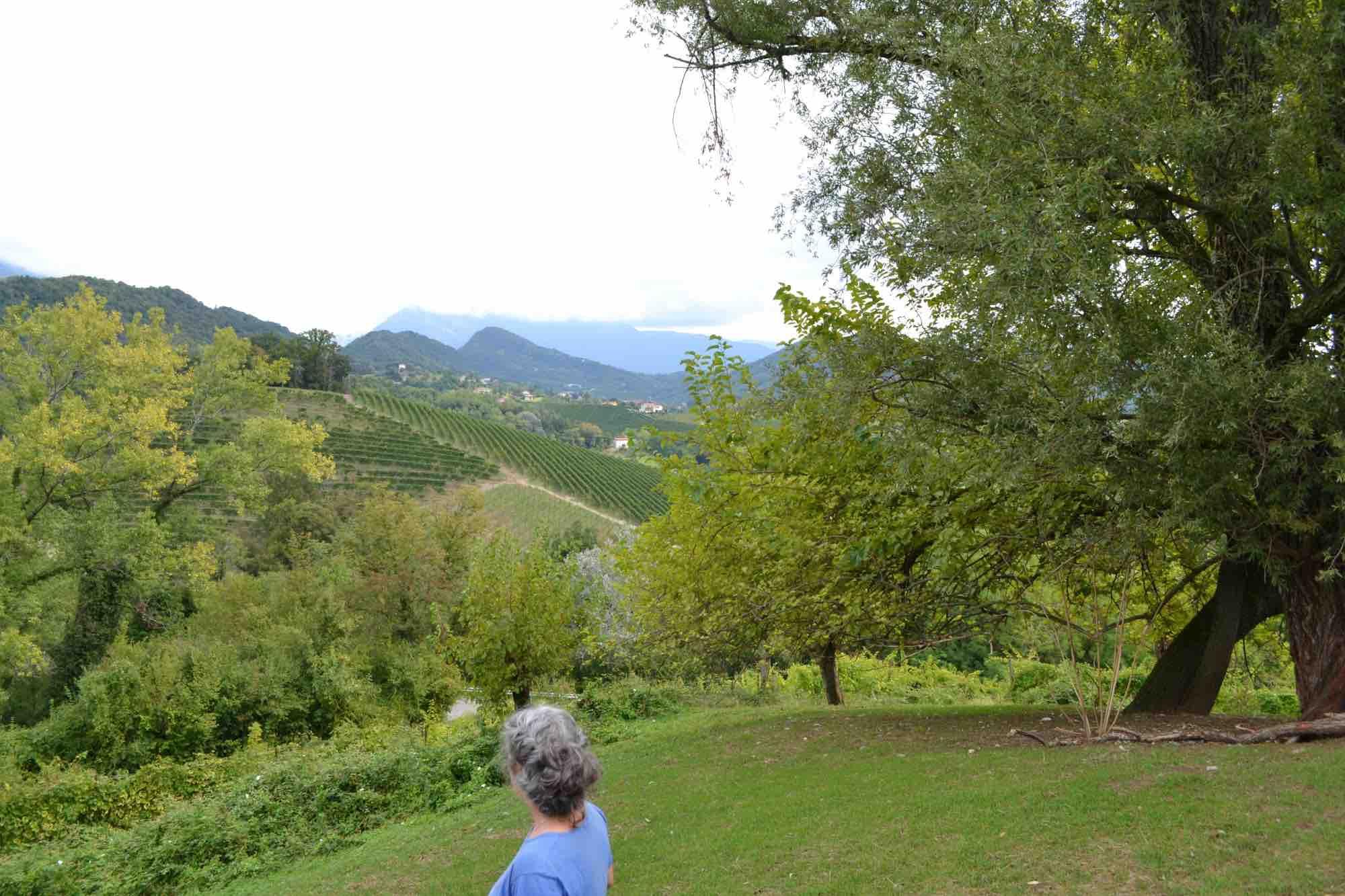 Il paesaggio delle colline patrimonio dell'Unesco insieme a Manuela