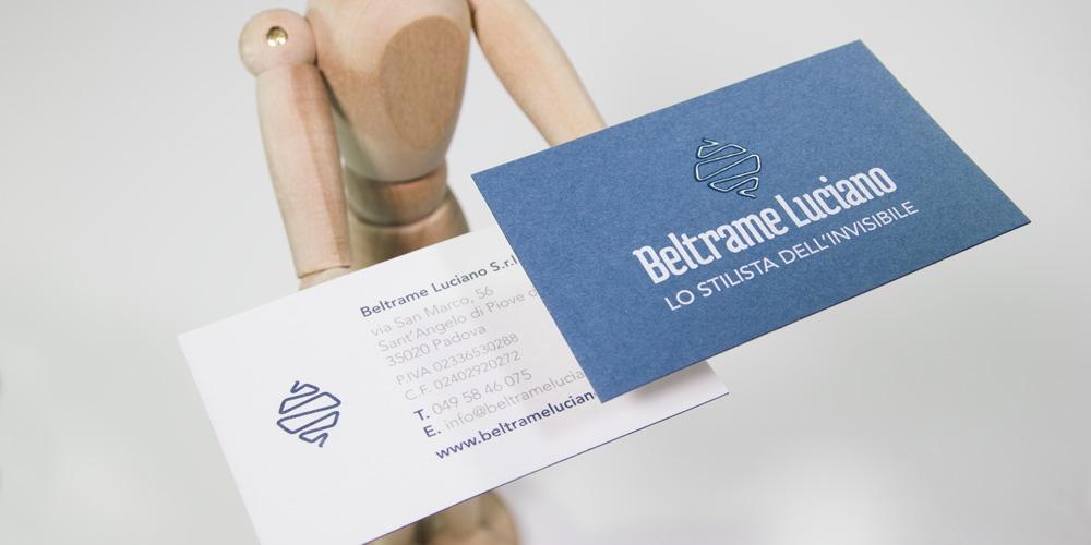 Biglietto da visita progettato per Beltrame Luciano