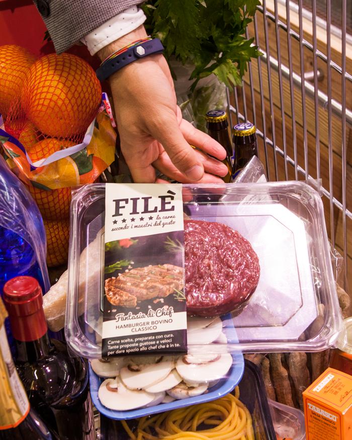 Esempio di prodotto alimentare nel carrello della spesa