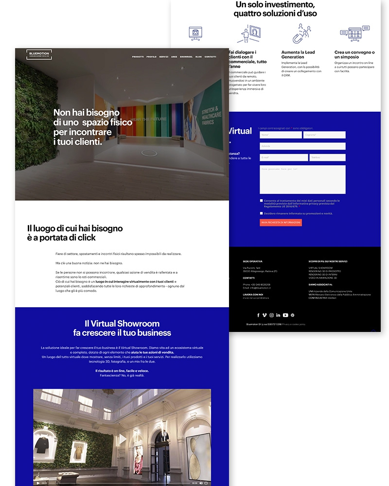 text-landing page layout
