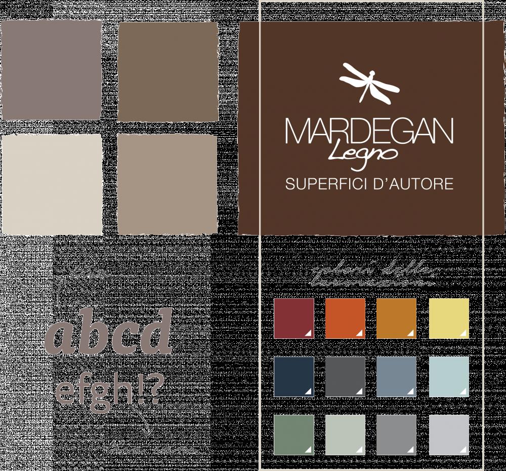 text-Sviluppo dell'identità di marca per brand B2B Mardegan Legno: studio dei colori e creazione payoff