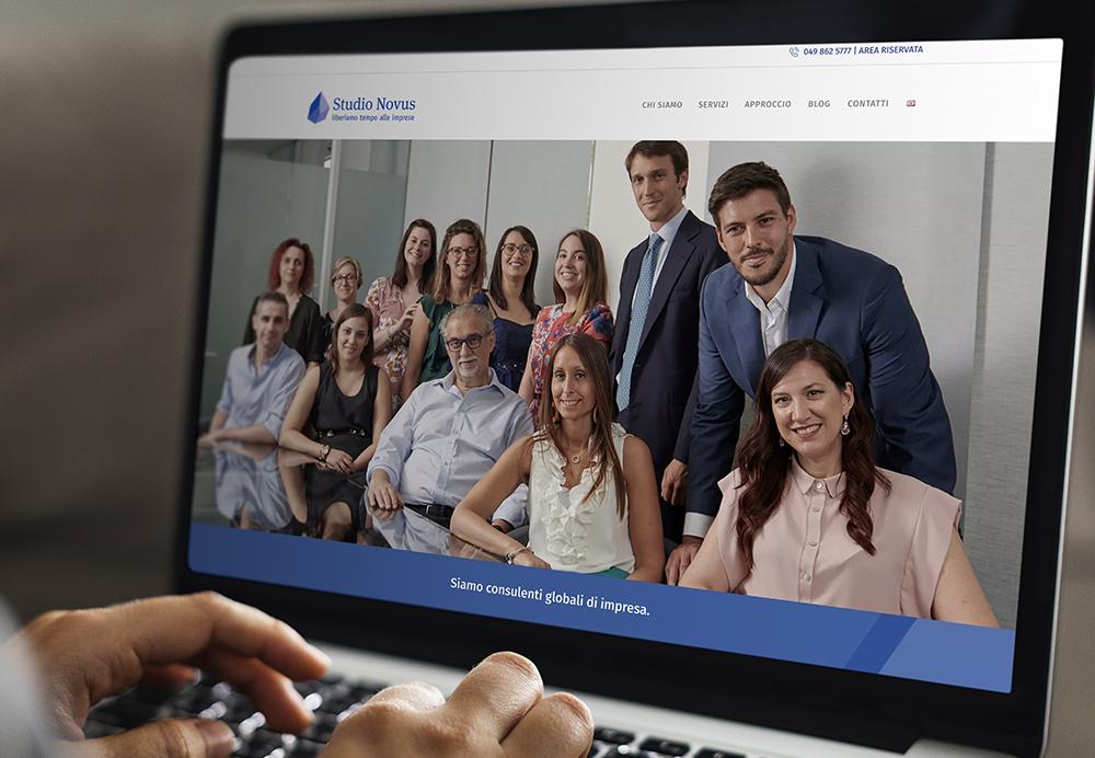 text-Realizzazione del sito web per studio associato Studio Novus